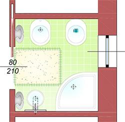 Un bagno piccolo ma completo la casa giusta - Progetto bagno 2 mq ...