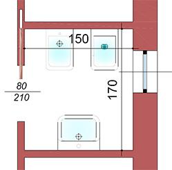 Un bagno piccolo ma completo la casa giusta - Progetto bagno 2x2 ...