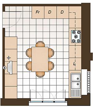 Arredare una cucina abitabile di 16 mq - La Casa Giusta