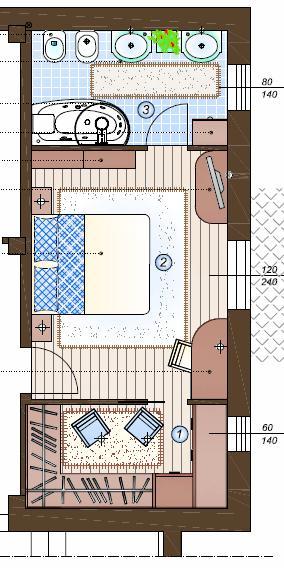 Camera con bagno e cabina armadio tutto in 28 mq la casa - Cabina armadio progetto ...