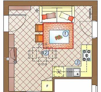 Un mini appartamento da arredare: pranzo, soggiorno, cucina in 20 mq.