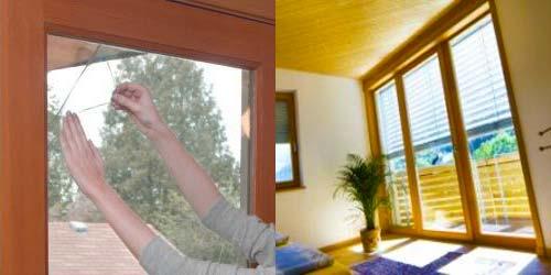 Applicare pellicola sui vetri per isolare termicamente la - Pellicola vetri casa ...