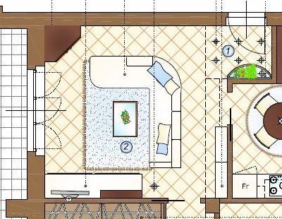 Arredare il soggiorno con: un divano angolare ed una parete attrezzata