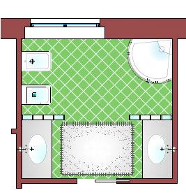 Bagno 7 mq la casa giusta - Lavabi doppi per bagno ...