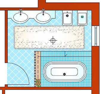 Arredare un bagno di 10 mq con una vasca ad incasso