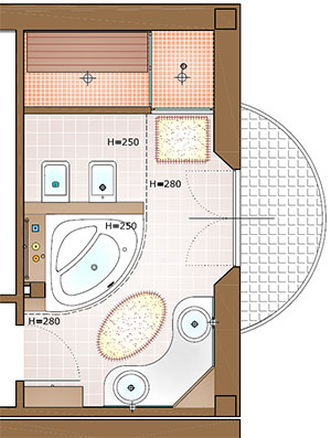 Una stanza per il benessere la casa giusta - Bagno piccolo dimensioni minime ...