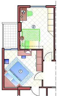 Arredare una camera matrimoniale ed una cameretta studio