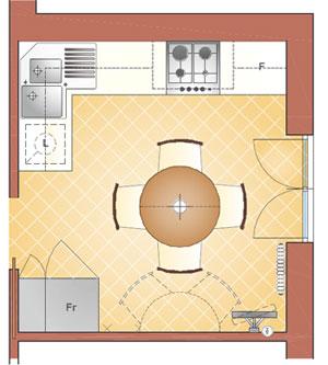 Arredare una cucina di 10 mq la casa giusta - Cucina 10 mq ...
