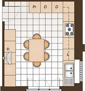 Arredare una cucina abitabile di 16 mq