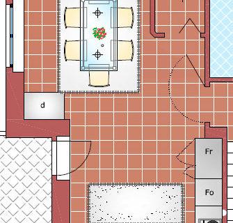 Soluzioni d'arredo per cucina e sala da pranzo. Sol 2 con disposizione ad L