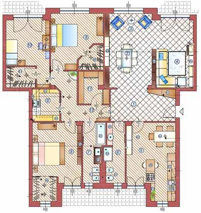 Ristrutturare un appartamento di 150 mq la casa giusta - Progetto casa 85 mq ...