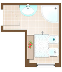 Tre soluzioni per rivestire un piccolo bagno