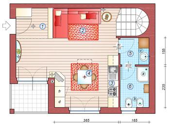 Trasformare un open-space di 36 mq