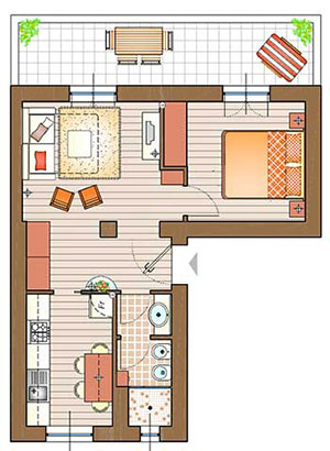 Un mini appartamento la casa giusta for Progetto di casa loft