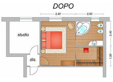 Un nuovo bagno ed una cabina armadio per la camera matrimoniale